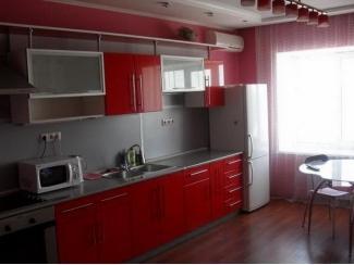 Кухня прямая Красная - Мебельная фабрика «Еврус»