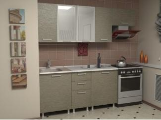 Кухня прямая Азалия комплектация 5 - Мебельная фабрика «Алсо»