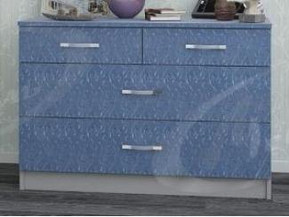 Небольшой голубой комод Сканди - Мебельная фабрика «Ладос-мебель»