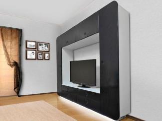 Гостиная стенка НЕОН BLACK EDITION - Мебельная фабрика «Евромебель»