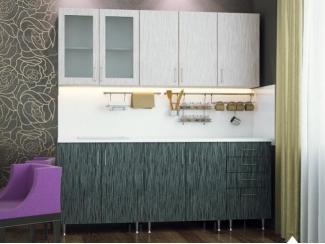 Малогабаритная кухня Серебряный дождь  - Мебельная фабрика «Северин»