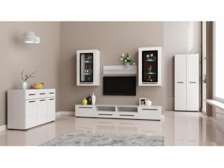 Гостиная Лайт Белый Глянец  - Мебельная фабрика «Эстель»