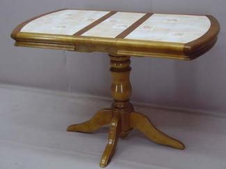 Стол на 1-ой балясина с керамической плиткой