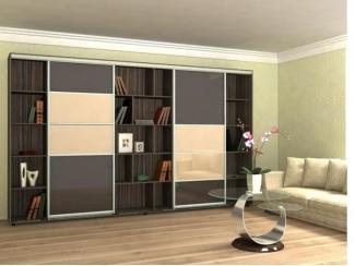 Шкаф-купе с полками в гостиную  - Мебельная фабрика «Гарант-Мебель»