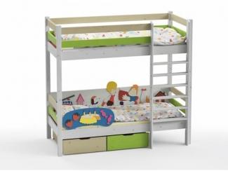 Двухъярусная кровать Карлсон - Мебельная фабрика «GRIFON»