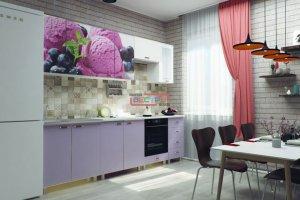 Кухня Фиалка фото ЛДСП Фиолетовый / Мороженое - Мебельная фабрика «Вестра»