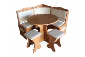 Кухонный уголок Мираж малый с круглым столом - Мебельная фабрика «Мебельный Арсенал»