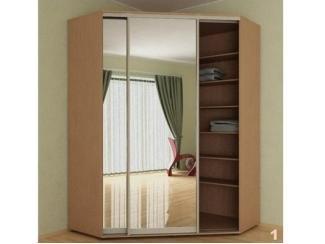 Угловой шкаф-купе с зеркалом  - Мебельная фабрика «FORSETI»