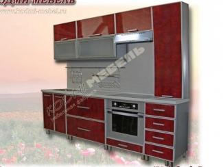 Кухонный гарнитур прямой Мед бордо