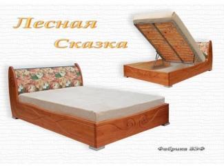 Кровать  с подъемным механизмом Лесная Сказка - Мебельная фабрика «ВЭФ»