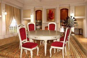Обеденная группа с круглым столом - Мебельная фабрика «Эксклюзивная мебель из дуба Кельтура»