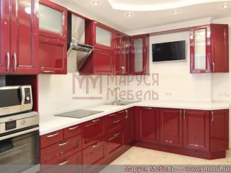 Кухня угловая Красная МДФ - Мебельная фабрика «Маруся мебель»