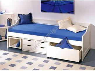 Удобная односпальная кровать с ящиками  - Изготовление мебели на заказ «Игал»