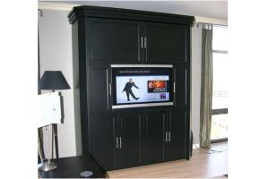 Шкаф-кровать с ТВкамином Леонардо  - Мебельная фабрика «МеТра»