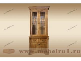 Буфет-витрина  Цезарь 1 - Мебельная фабрика «Лидер Массив»