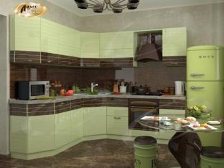 Кухня угловая «Браун Рипли» - Мебельная фабрика «Ладос-мебель»