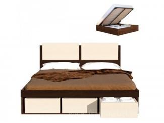 Кровать с оригинальным изголовьем Арт-Сити   - Мебельная фабрика «Фран»