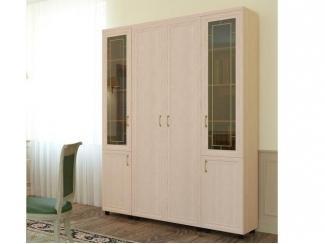 Шкаф распашной 2-х дверный комбинированный с витриной ПРЕМЬЕР-1 - Мебельная фабрика «Баронс»