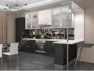 Угловая кухня с баром  - Мебельная фабрика «Моя кухня», г. Санкт-Петербург