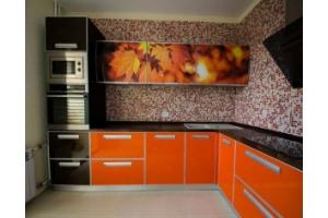 Кухня пластиковый фасад 10 - Мебельная фабрика «МеТра», г. Москва