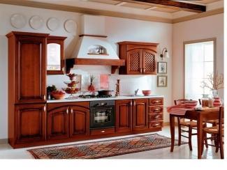 Кухня прямая Пенелопа  Массив Берёза - Мебельная фабрика «Мега Сити-Р»