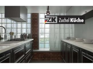 Кухонный гарнитур прямой Бремен Блэк - Мебельная фабрика «Zuchel Kuche»