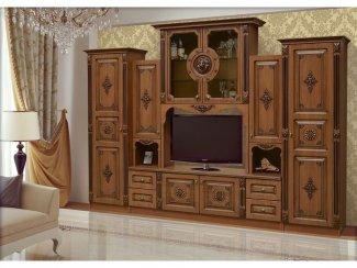 Стенка Лео с резными декорами  - Мебельная фабрика «Аристократ»