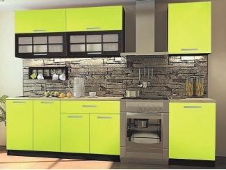 Прямой кухонный гарнитур Лайм матовый ПВХ - Мебельная фабрика «Вся Мебель»