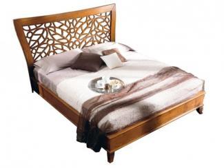 Кровать прямое изголовье с резьбой