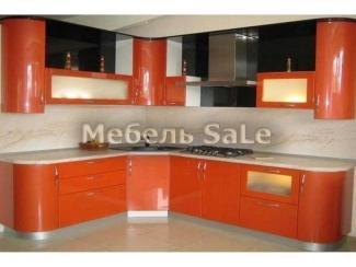 Оранжевая угловая кухня  - Мебельная фабрика «Мебель СаЛе»