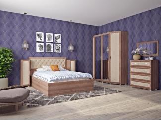 Бежевый спальный гарнитур - Мебельная фабрика «Нижнетагильская мебельная фабрика»