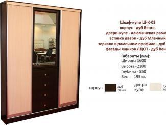 Шкаф-купе Ш-К-03 - Мебельная фабрика «Милайн», г. Смоленск