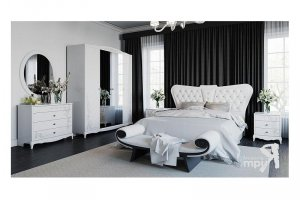 Спальня Аврора белый глянец - Мебельная фабрика «ТриЯ»