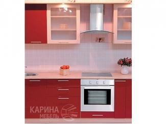 Красная прямая кухня
