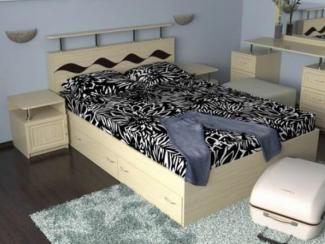 Кровать двуспальная Волна 3 - Мебельная фабрика «Мезонин мебель», г. Санкт-Петербург