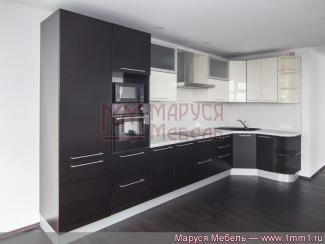 Кухня угловая из шпона венге-ваниль - Мебельная фабрика «Маруся мебель»