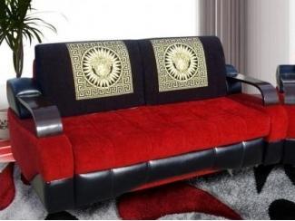 Черно-красный прямой диван Корона 8 - Мебельная фабрика «Корона», г. Ульяновск