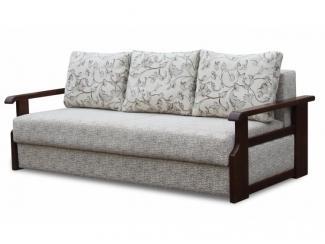 Трехместный диван Катюша с деревянными подлокотниками  - Мебельная фабрика «Катюша», г. Краснодар
