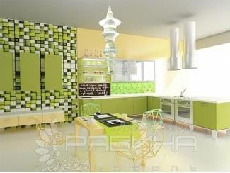 Зеленая модель кухни Милан  - Мебельная фабрика «Рябина»
