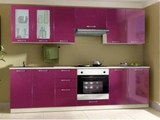 Кухня 12 малиновый металлик - Мебельная фабрика «Мебель-маркет»