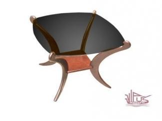 Стеклянный журнальный стол Рио 2