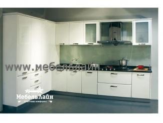 Угловая белая  кухня - Мебельная фабрика «МебельЛайн»