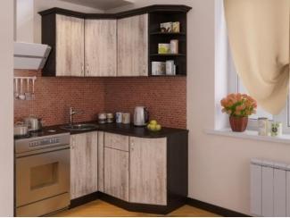 Небольшой угловой кухонный гарнитур Сосна выбеленная  - Мебельная фабрика «РОСТ»
