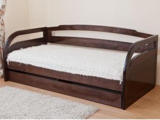 Кровать односпальная с задней спинкой - Мебельная фабрика «Красная звезда»