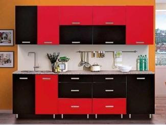 Черно-красная кухня Гурман 8  - Мебельная фабрика «Аджио»
