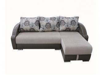 Евро угловой диван Новый тик-так с оттоманкой  - Мебельная фабрика «ИнтерСиб»