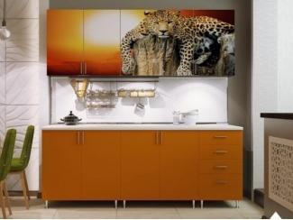 Кухня прямая с фотопечатью КФ 66 - Мебельная фабрика «Северин»