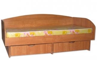 Кровать пристенная с ящиками