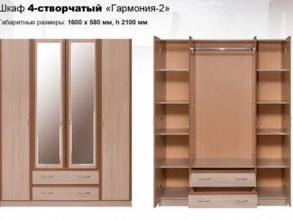 Шкаф 4-створчатый Гармония 2 - Мебельная фабрика «КМК»