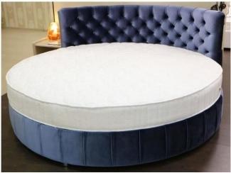 Круглая кровать в каретной стяжке - Мебельная фабрика «Уют»